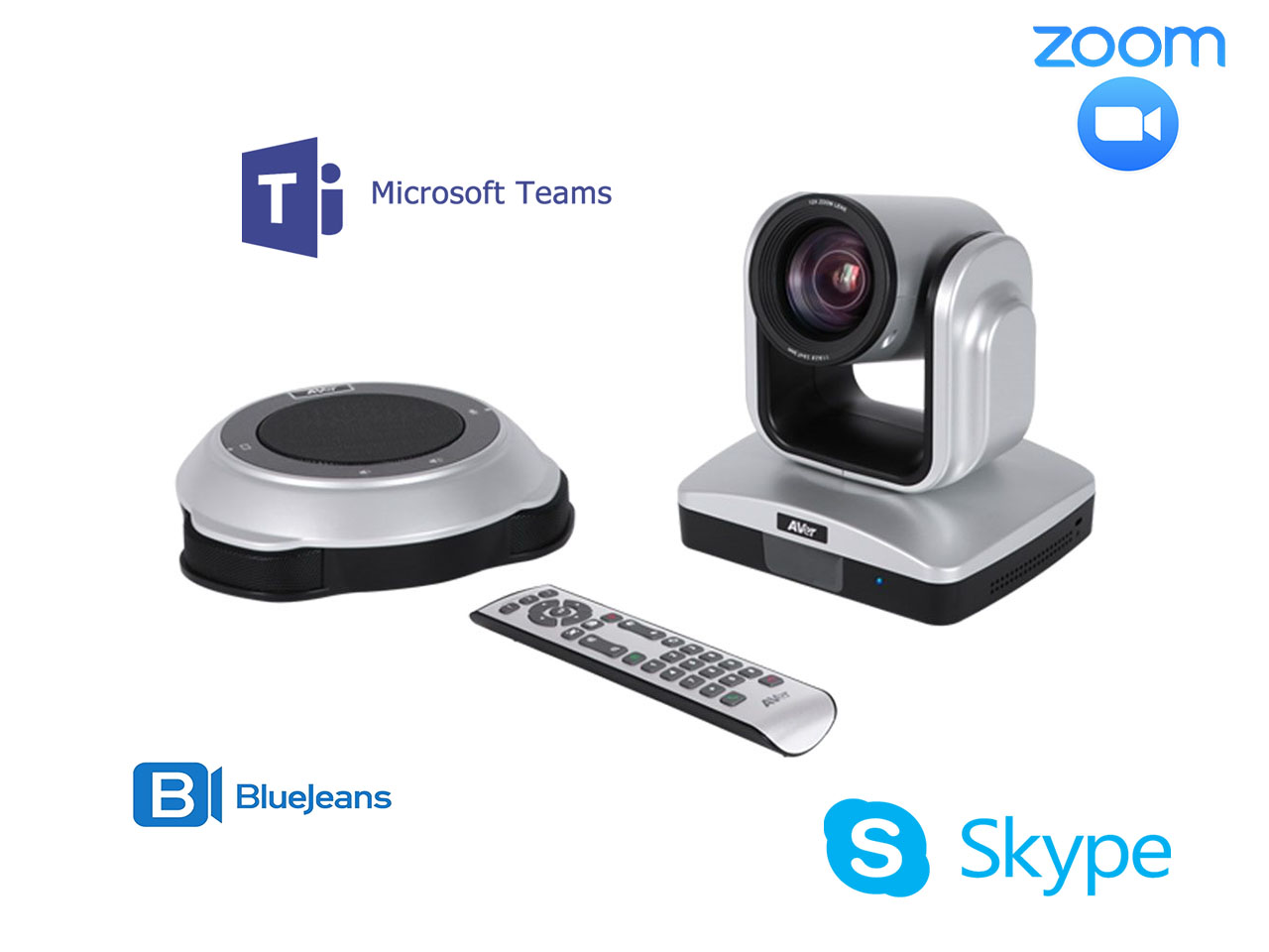 teams zoom skype video conference solution